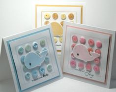 "baby cards, would look cute with ""Wonderful whale"" die"