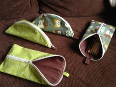 An easy pencil case. Korn, Sunglasses Case, Sewing, Stitching, Pencil, Easy, Costura, Dressmaking, Couture