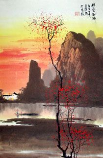 Page 2 Buy Chinese landscape paintings from China & World's Largest Online Chinese Painting Gallery. Asian oriental landscape paintings for sale. Chinese Landscape Painting, Japanese Landscape, Japanese Painting, Landscape Art, Japanese Art, Landscape Paintings, Landscapes, Painting Inspiration, Color Inspiration
