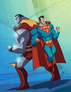 Colssus and Superman by Eric Guzman