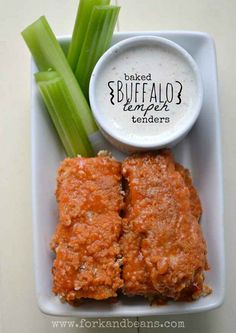 Baked Buffalo Tempeh Tenders | 30 Yummy Vegetarian Takes On Classic Meat Dishes