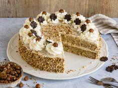 Cremige Nuss-Sahne-Torte Mug Recipes, Easy Cookie Recipes, Baking Recipes, Cake Recipes, Dessert Recipes, Cream Recipes, Biscuit Dessert Recipe, German Cake, Birthday Cakes For Women