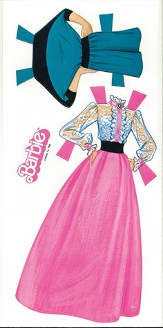 (⑅ ॣ•͈ᴗ•͈ ॣ)♡                                                      Miss Missy Paper Dolls: Barbie Box Set