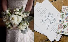 Lovely white bouquet of dahlias, roses, dusty miller and olive leaf