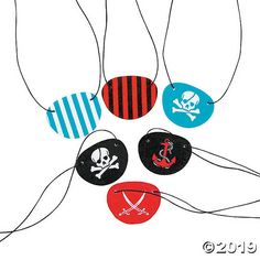 Give all your mateys one of these pirate eye patches at your buccaneer birthday party! They make swashbuckling party favors. Battle for buried treasure . Tween Party Games, Princess Party Games, Graduation Party Games, Halloween Party Games, Nye Party, Work Party, Creepy Halloween, Beach Party, Pirate Party Supplies