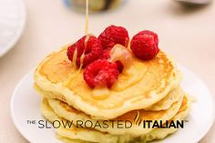 http://www.theslowroasteditalian.com/2013/05/the-best-ever-fluffy-buttermilk-pancakes.html