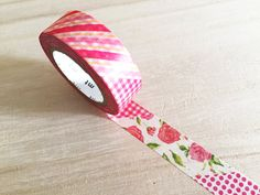 mt Washi Tape  - Flower / Red (1 pc) Japanese Stationery Masking Tape Deco Tape…