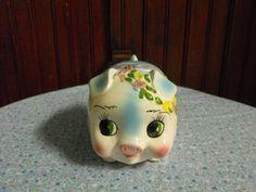 Vintage Lefton Pig Piggy Bank CUTE by peacenluv72 on Etsy, $26.75