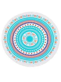 AZTEC ANAVAJO PATTERN ROUND ROUNDIE BEACH TOWEL WHOLESALE JEWELRY FOR BOUTIQUES