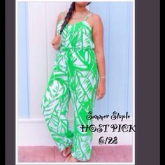 2X H.P. - LILLY PULITZER- Boom Boom Jumpsuit NEW WITH TAGS. ORIGINALLY BOUGHT FOR MYSELF AFTER WAITING TO FIND ONE AT TARGET WEEKS AFTER THE LINE CAME OUT, BUT IM NOT CRAZY ON HOW IT LOOKS ON ME. NICE MATERIAL, ADJUSTABLE STRAPS, ZIPPER IN THE BACK. NOT SELLING TO MAKE EXTRA CASH JUST WANT WHAT I PAID FOR. MIGHT TRADE FOR OTHER LILLY ITEMS FROM TARGET AT EQUAL COST. PRICE IS FIRM. Lilly Pulitzer Pants Jumpsuits & Rompers