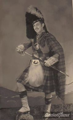 On Leave in Professional portrait photo of Carl W. Sharp, a soldier on leave during World War II, taken in Scotland. [ Original: Carl W Sharp World War 2 ] Scottish People, Men In Kilts, Professional Portrait, History Class, Most Beautiful Cities, Scottish Highlands, Portrait Photo, Vintage Pictures, Historical Photos
