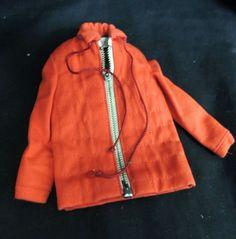 VTG MATTEL BARBIE KEN Red Ski Jacket Zipper Quilted Winter 1960 Outfit Sports #ClothingShoes