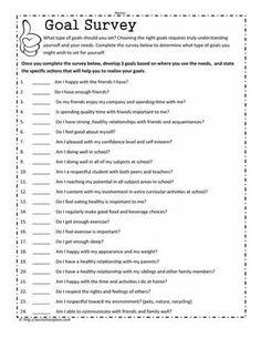 Goal Setting Survey