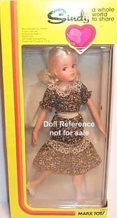 SIndy doll - I don't have the doll anymore, but I have this dress on a Barbie somewhere!