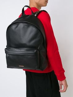 GIVENCHY LOGO PLAQUE STUDDED BLACK LEATHER BACKPACK BJ05763-576-001  #GIVENCHYSTUDDED #Backpack
