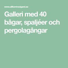 Galleri med 40 bågar, spaljéer och pergolagångar