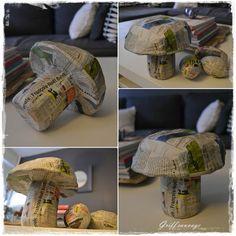 champignon papier maché