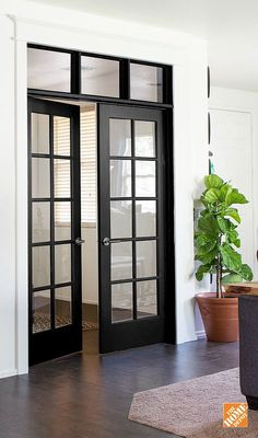 French Door To Outside Interior French. 27 Best Planning Window Treatments For French Doors . Sliding Glass Pocket Doors Exterior Hawk Haven. Home and Family Black French Doors, Black Doors, Bedroom With French Doors, French Windows, French Closet Doors, Double French Doors, French Doors Patio, Transom Windows, Windows And Doors