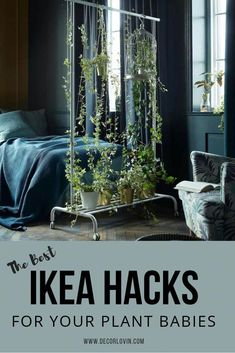 Plant Hacks Your Green Friends Will Love The best IKEA hacks for houseplants. Great Ideas for DIY hanging baskets, painting planters and more!The best IKEA hacks for houseplants. Great Ideas for DIY hanging baskets, painting planters and more! Home Decor Hacks, Diy Home Decor On A Budget, Decor Ideas, Decorating Ideas, Diy Ideas, Diy Hanging, Hanging Baskets, Ikea Hanging Planter, Hanging Plants