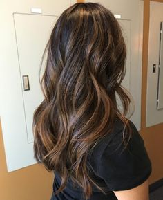 """Shangri la Hair studio☼ on Instagram: """"Beach hair meets the fall Retouched her balayage and toned it down giving her a rock dark blonde that matches perfectly with her natural base. And of course a trim with some awesome layers! #ShangrilaHairStudio"""" Dark Balayage"""