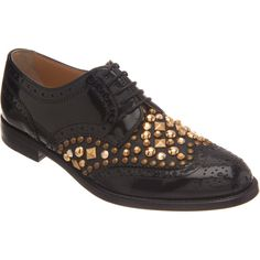 Dolce & Gabbana Studded Brogues ($925) ❤ liked on Polyvore
