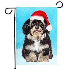 #Havanese Dog Christmas Garden Flag,House flag A perfect Home Decor for Dog Lovers, Dog lovers Gifts, Dog Christmas House Flag #havaneseChristmasgift #Havaneseflag Havanese Christmas Garden flag!
