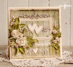 Wedding card with hearts - Scrapbook.com