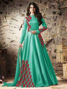 anarkali eid wedding party indian pakistani bollywood designer salwar kameez new Designer Salwar Kameez, Designer Anarkali, Designer Gowns, Designer Wear, Shalwar Kameez, Pakistani Bridal Dresses, Indian Dresses, Indian Outfits, Indian Clothes