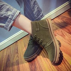 Designer Buckle Lace Up Ankle Flat British Style Martin Boots For Women - NewChic