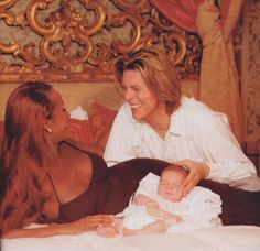 ~iman and david bowie ~baby daughter alexandria~