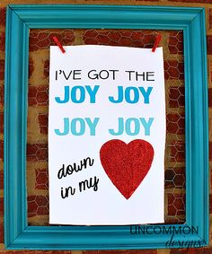 Valentine Printable { I've got the joy… } I love this even for just in Annie's room, not only for valentines. Love!