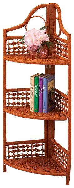 9 Simple Ideas: Old Wicker Chair wicker bag Mirror Ideas painted wicker desk. Decor, Furniture, Furniture Fabric, Shelves, Wicker Headboard, Wicker Furniture, Home Decor, Corner Storage Shelves, Wicker Shelf