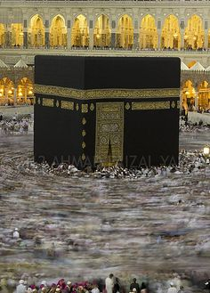 The Mosque of Makkah, Saudi Arabia. The cuboid-shaped building in the middle is called The Kaaba and is the most sacred site in Islam. Wonderful Places, Beautiful Places, Masjid Al Haram, Mekkah, Beautiful Mosques, Islamic World, Islamic Architecture, Place Of Worship, Dubai