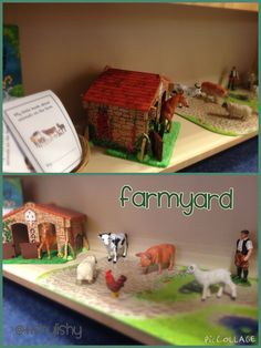 New small world shelves - Farmyard