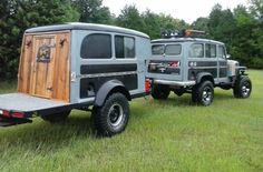 55 Willys Wagon and Trailer Jeep Pickup, Jeep 4x4, Jeep Truck, Pickup Trucks, Cool Jeeps, Cool Trucks, Cool Cars, T1 Bus, Vw T1