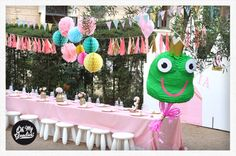 Princess Party. Shabby Chic Girl Party. Kid Party. Pink Party.