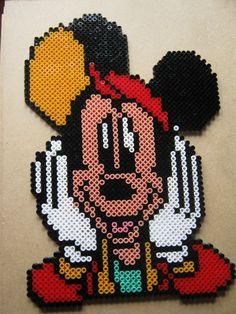 Mickey Mouse hama beads by perleshama30