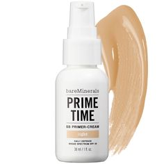 bareMinerals Prime Time™ BB Primer-Cream Daily Defense Broad Spectrum SPF 30 oz from Sephora. Saved to makeup. Beauty Balm, Beauty Makeup, Face Makeup, Hair Beauty, Beauty Tips, Beauty Essentials, Top Beauty, Beauty Inside, Clean Beauty