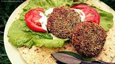 warzywne burgery z fasoli