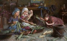 Corn Shuckers by Morgan Weistling