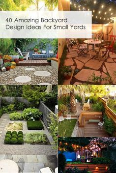 40 Amazing Backyard Design Ideas For Small Yards