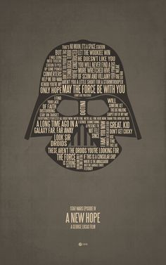 Star Wars: A New Hope. Typographic Art by Jerod Gibson.