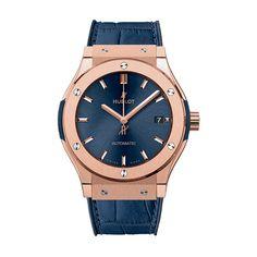#Hublot Classic Fusion Blue King Gold #Watch