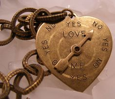 Loves Me Loves Me Notbrass necklace with by CMandMJewelry on Etsy, $20.00