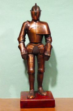 Vintage Figural Medieval Knight Table Lighter ~ Family Heirloom ~ Antique Bronze (CURRENTLY FOR SALE!)