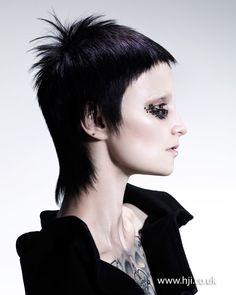 :::.... 2015 black mullet hairstyle with short fringe...::::::