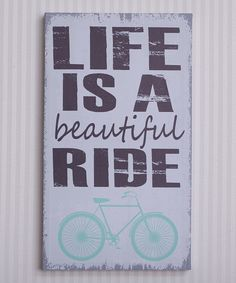Another great find on #zulily! Mint Green 'Life Is Beautiful' Canvas by Adams & Co. #zulilyfinds