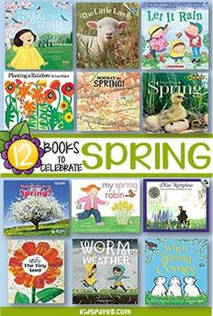 Spring theme recommended books for preschool, pre-K and Kindergarten. Kindergarten Books, Preschool Books, Preschool Activities, Preschool Garden, April Preschool, Kindergarten Centers, Preschool Learning, Reading Activities, Kindergarten Classroom