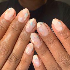 Amazing Tips For The Best Summer Nails – NaiLovely Nail Design Stiletto, Nail Design Glitter, Minimalist Nails, Nail Manicure, Gel Nails, Nail Polish, Cute Acrylic Nails, Cute Nails, Nagel Hacks