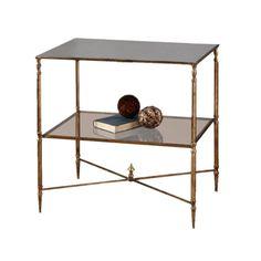 Heath Mirrored End Table